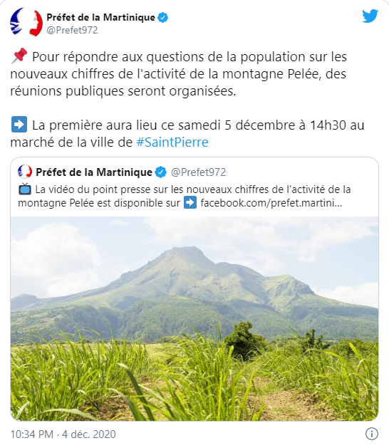 capture tweet prefet martinique